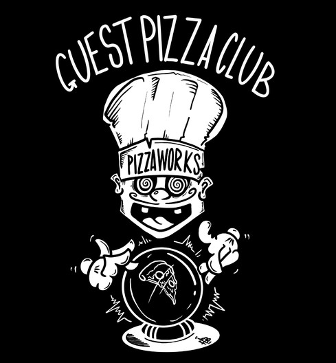 Sweater design (back) for Pizza Works