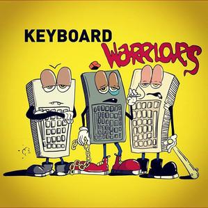 Keyboard warriors illustration