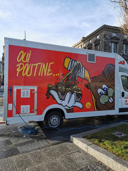 Illustration for Oui Poutine food truck