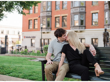 Emilee and Sam - Engagement Session - Downtown Lancaster, Ohio