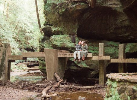 Kayla and Curt's Engagement Session - Old Man's Cave