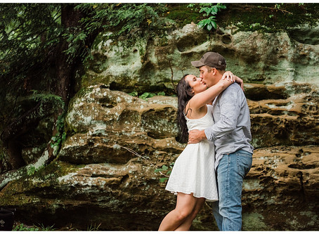 Jessica and Joey - Rainy Engagement Session - Rockbridge, Ohio