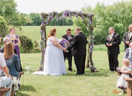 Brian and Caroline- The Heart of the Country Event Barn- Rockbridge, Ohio