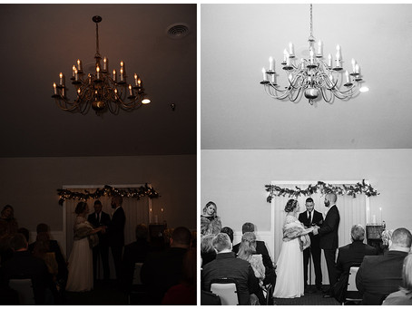 Before and After Editing Wedding Photographs