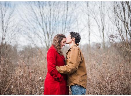 Bri and Jon - Snowy Engagement Session - Chestnut Ridge Metro Park - Carroll, Ohio