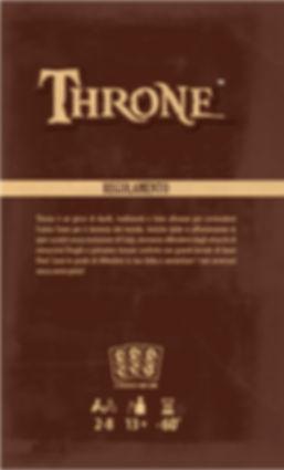 Throne | Copertina Regolamento