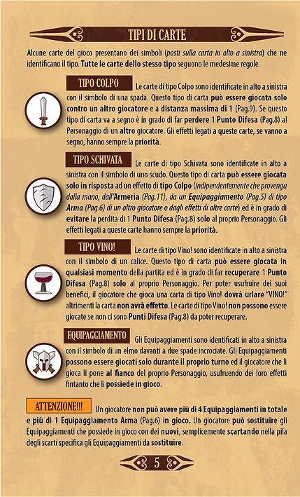 Throne | Pagina 5 - Regolamento - Tipi di Carte