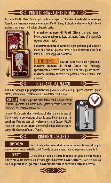 Throne | Pagina 8 - Regolamento - Punti Difesa - Carte in Mano - Rivelare dal Mazzo - Rinforzo Scarto
