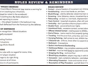 Rules Review & Reminders