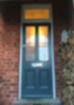 Tom Goldsmith Joinery - Traditional Four Panel Glazed Front Door & Sidelight