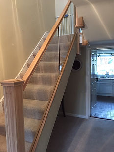 Tom Goldsmith Joinery - Oak Staircase with Glass Balustrade