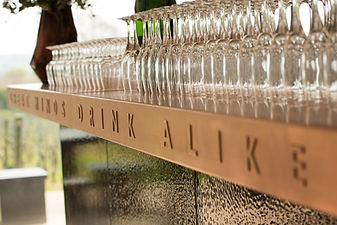 Tom Goldsmith Joinery - Copper Bar Top with Etched Lettering