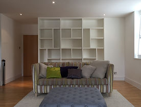 Tom Goldsmith Joinery - Bespoke Asymmetical Fitted Bookcase