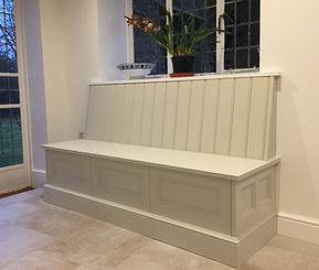 Tom Goldsmith Joinery - Handmade Banquette with Integrated Storage