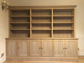 Tom Goldsmith Joinery - Large Fitted Oak Bookcase