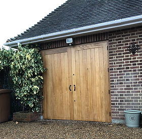 Tom Goldsmith Joinery - Solid European Oak Traditional Garage Doors