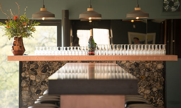 Tom Goldsmith Joinery - Chapel Down Copper Bar and Tasting Table