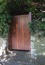 Tom Goldsmith Joinery - Solid Accoya Back Gate stained in dark walnut