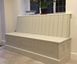 Tom Goldsmith Joinery - Banquette with Integrated Storage