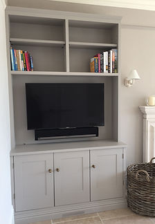 Tom Goldsmith Joinery - Fitted Cabinet with Integrated Media Storage