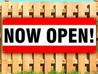 Now Open Sign Banner