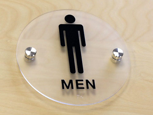 Custom ADA Restroom signs with Braille