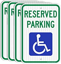 Reserved Parking Signs with Handicap Parking