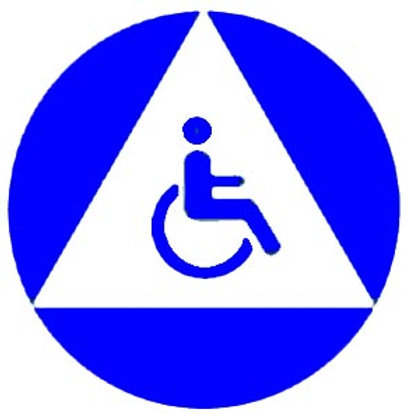Accessible California Restroom Sign