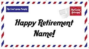 Custom Retirement Sign Banner