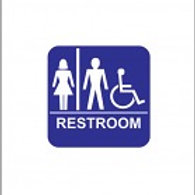 Unisex ADA, Braille Wall Sign