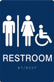 Restroom ADA Braille  Sign
