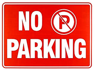 No Parking Sign with logo