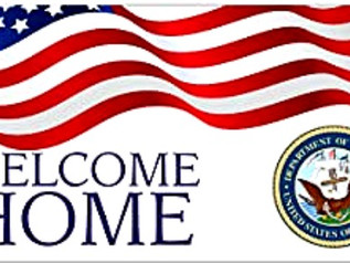 Welcome Home Military USA Sign Banner