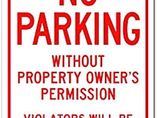 Warning Sign, No Parking, Unauthorized Vehicles Will Be Towed.