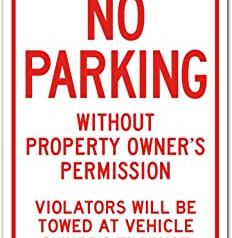 Warning Sign No Parking