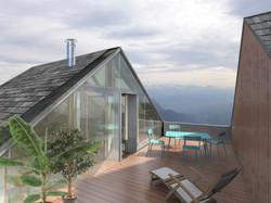 La terrasse dans le toit