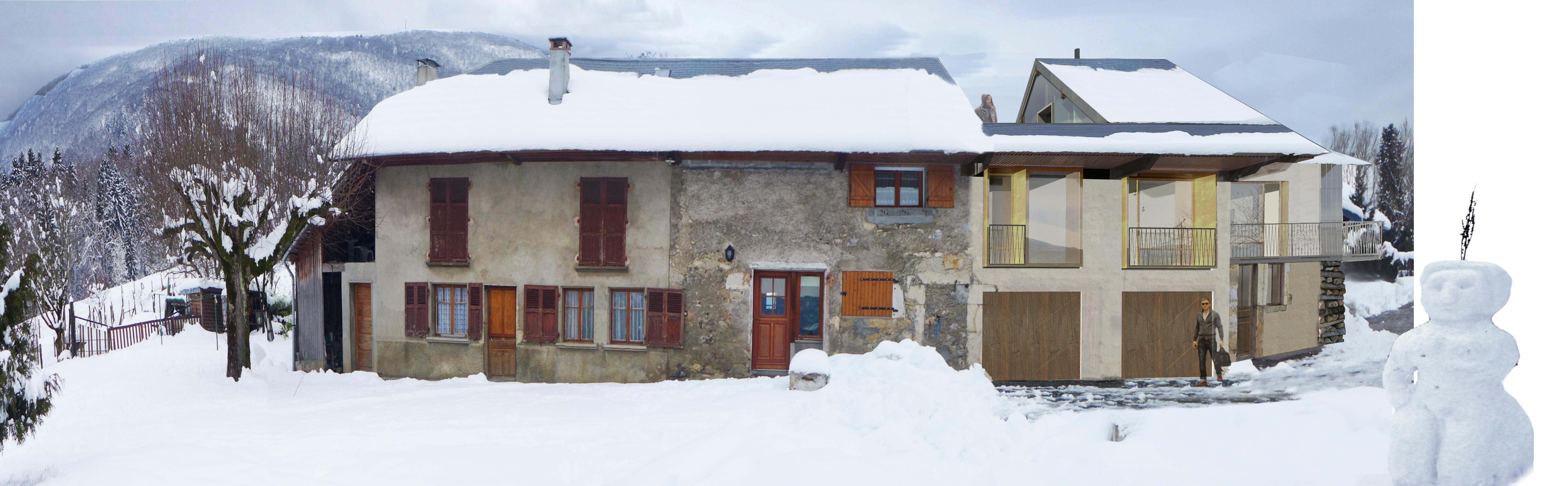 La façade principale réhabilitée