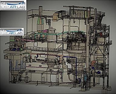 Atelier poudre avec atomisation complet.