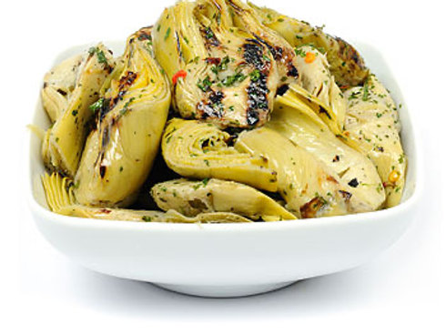 Large: Whole grilled artichoke hearts in oil 300g pot