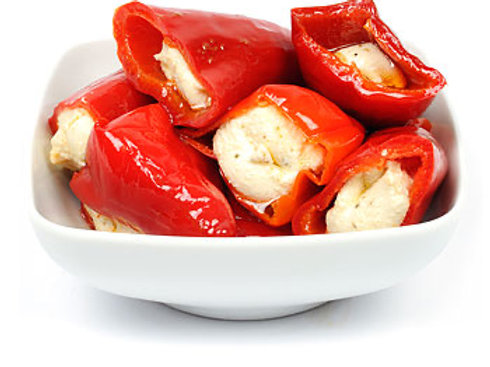 Small: Spicy peppers stuffed with cheese (NON VEGAN) 190g pot