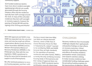 The Role of Recovery Residences and PARR