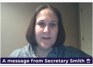 Message from Secretary Smith(DDAP)
