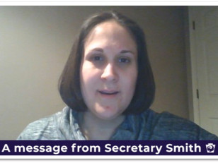 Message from Secretary Smith (DDAP)
