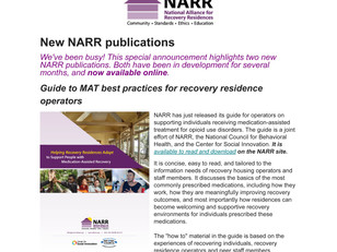 New NARR publications
