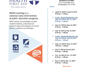 Mental Health First Aid Training 2019