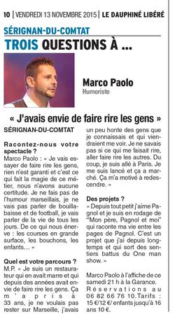 Marco Paolo edition du 13 Novembre 2015