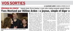 ARTICLE DAUPHINE DU 06 RUBRIQUE SORTIE