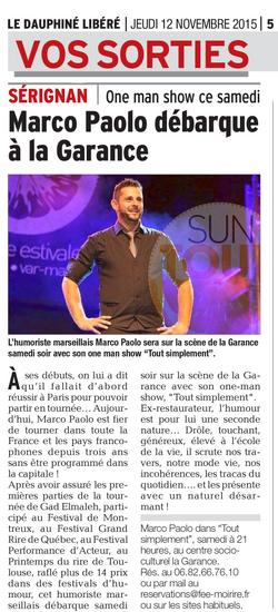 Marco Paolo edition du 12 Novembre