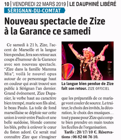 ZIZE LE DAUPHINE