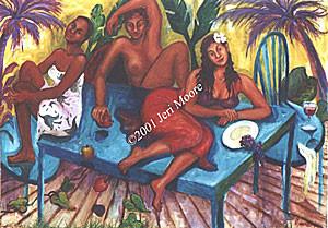 Mural at Saba Blue Water Cafe Austin